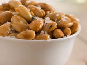 Almonds are a great snack to help you keep inches off your waistline.