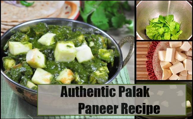 Authentic Palak Paneer Recipe