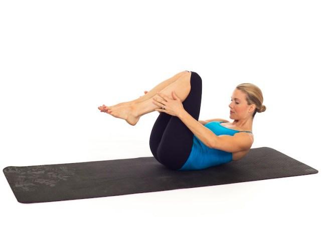 Pilates Double Leg Stretch Exercise